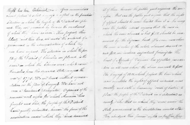 Alexandria VA Citizens to Congress, March 23, 1816. Address.