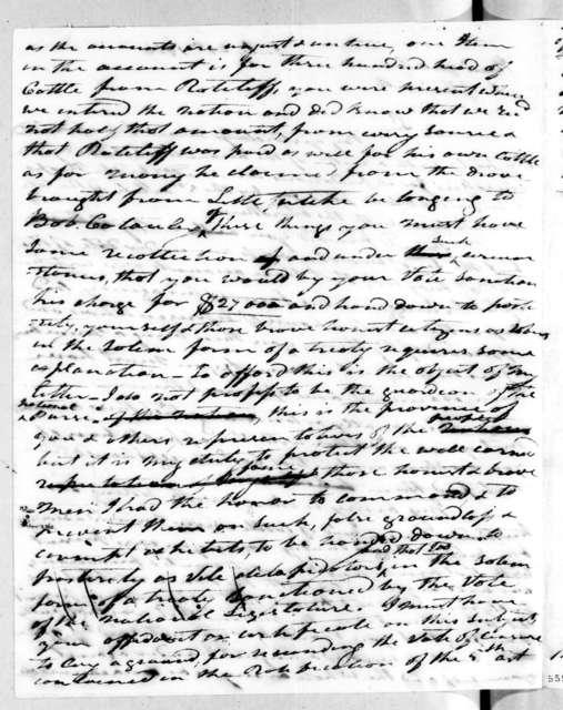 Andrew Jackson to Isaac Thomas, July 24, 1816
