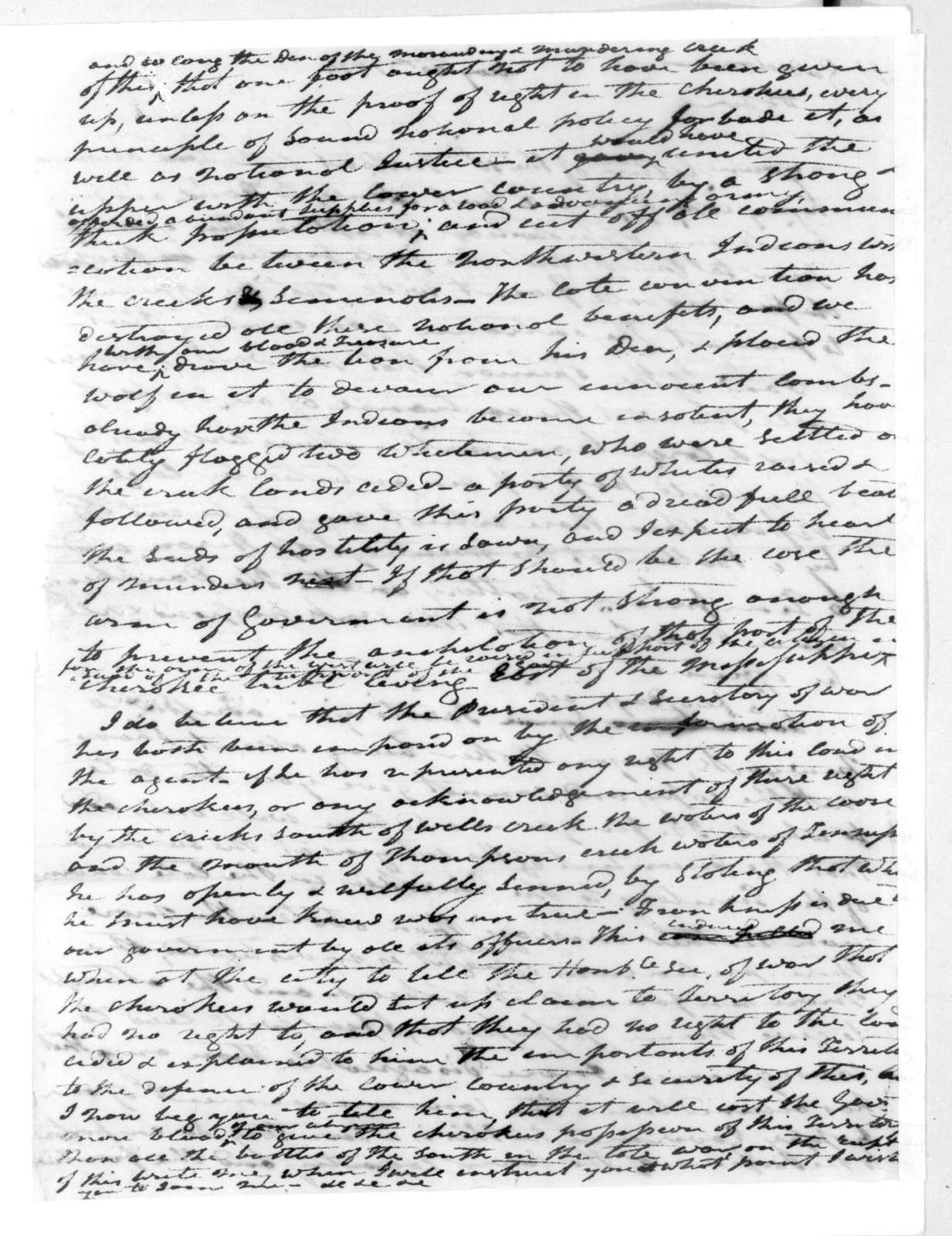 Andrew Jackson to James Gadsden, May 30, 1816