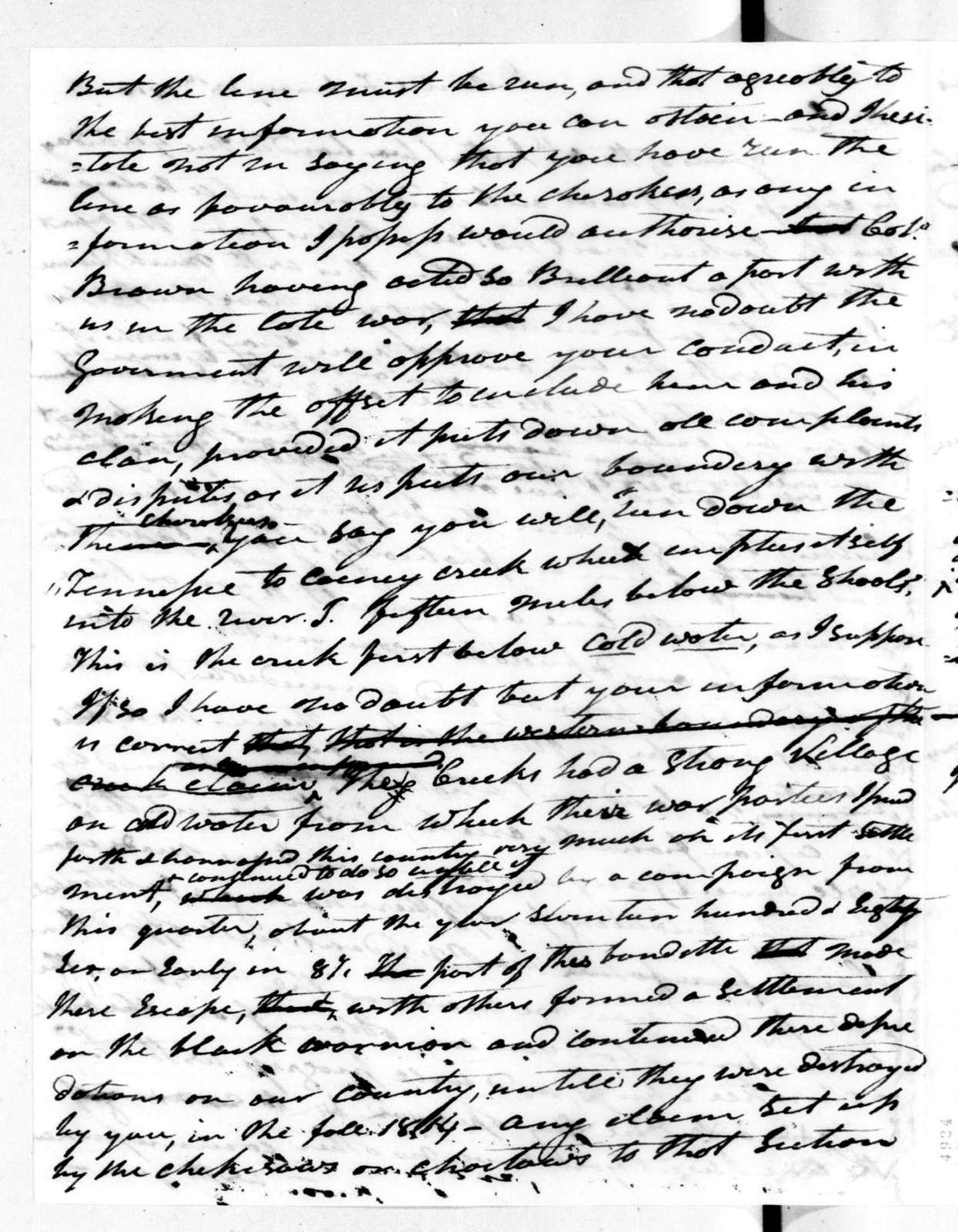 Andrew Jackson to John Coffee, February 13, 1816