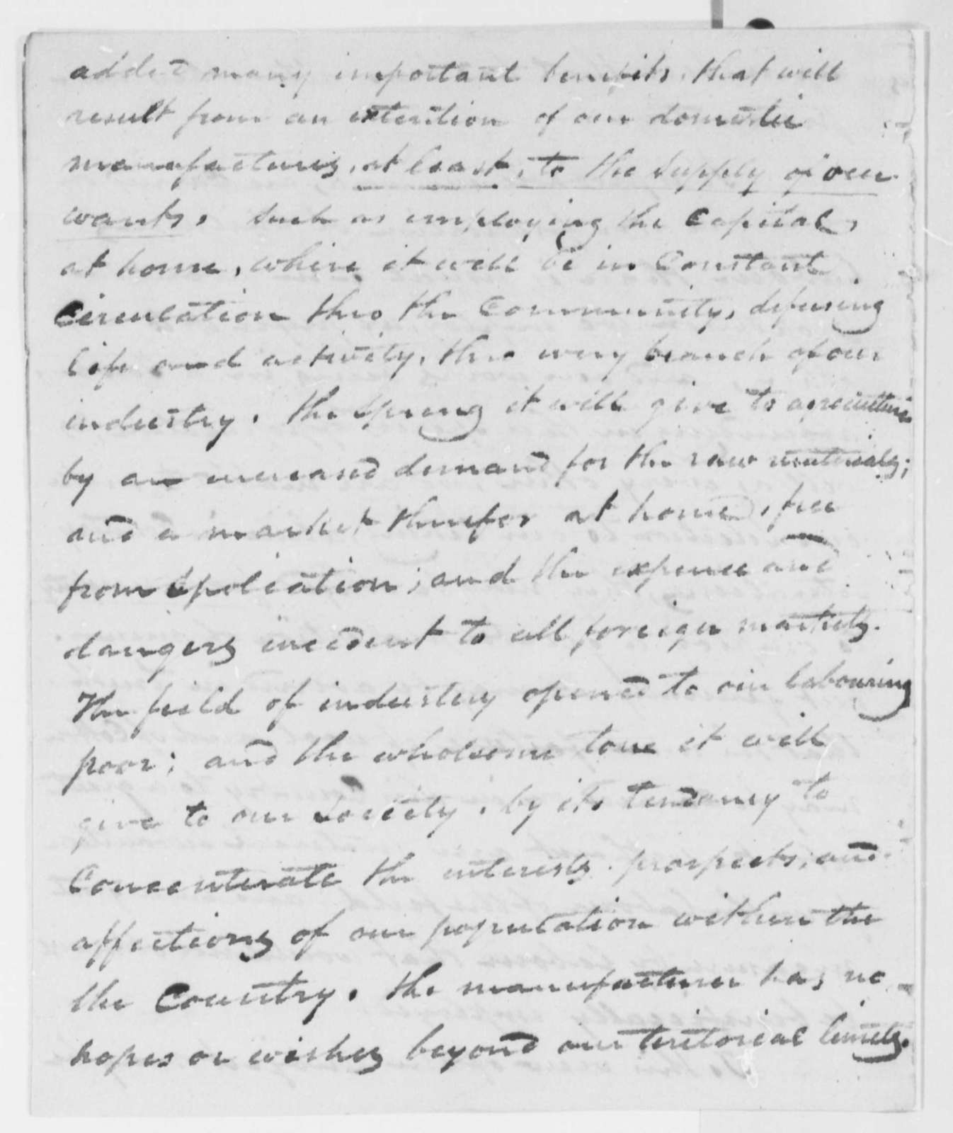 Anonymous to Thomas Jefferson, March 6, 1816