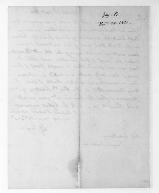 Benjamin Joy to James Madison, November 28, 1816.