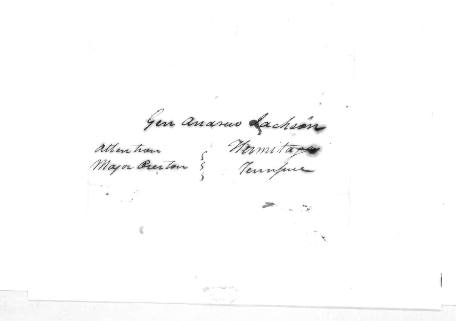 C. Tucker to Andrew Jackson, May 22, 1816