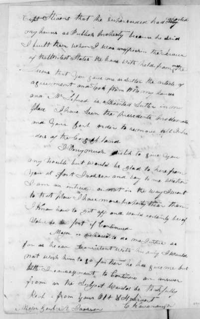 Charles Kavanaugh to Andrew Jackson, March 6, 1816