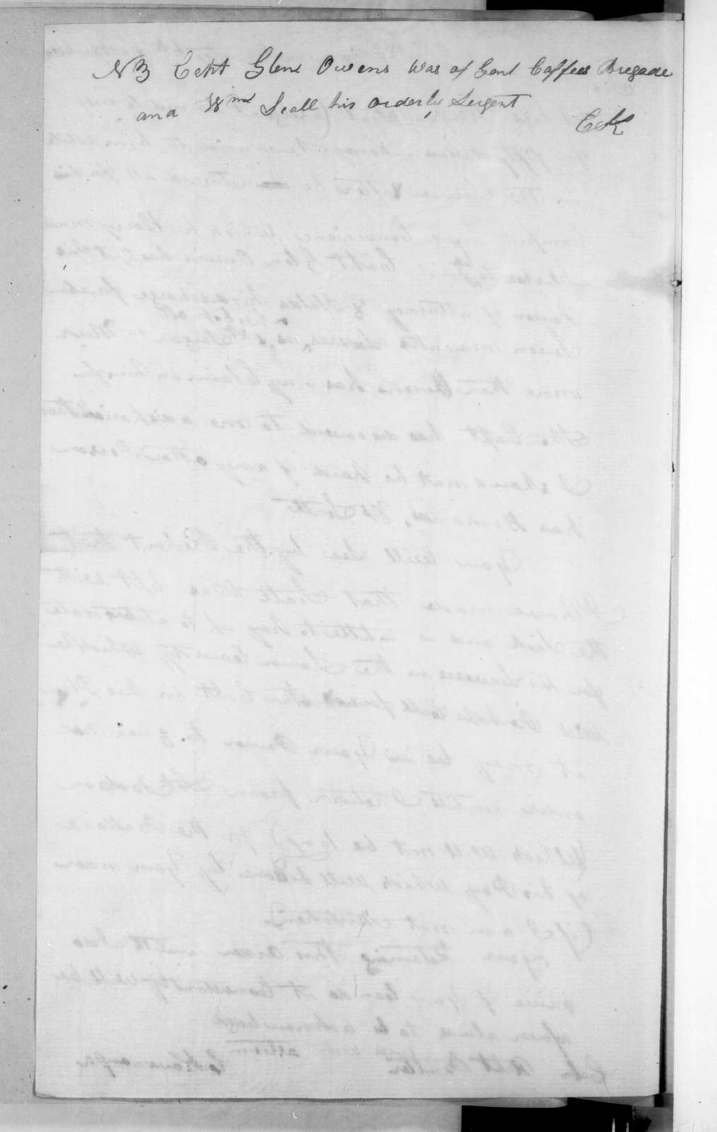 Charles Kavanaugh to Robert Butler, April 6, 1816