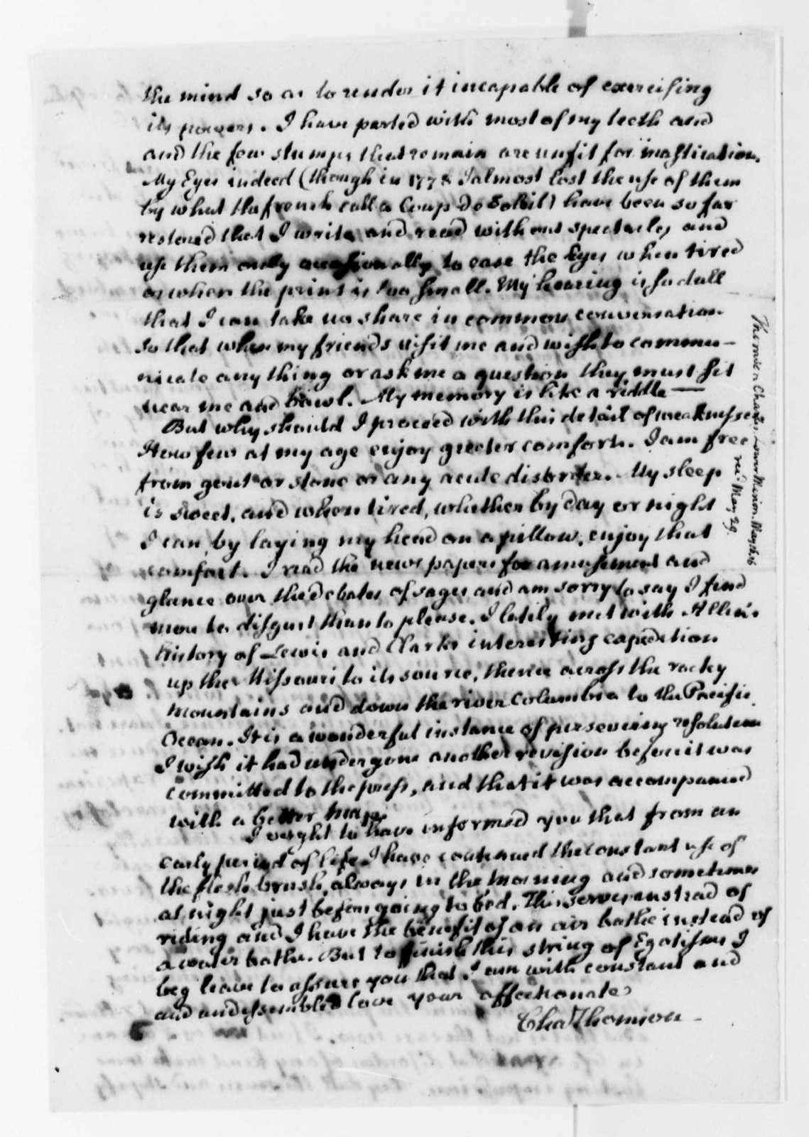 Charles Thomson to Thomas Jefferson, May 16, 1816