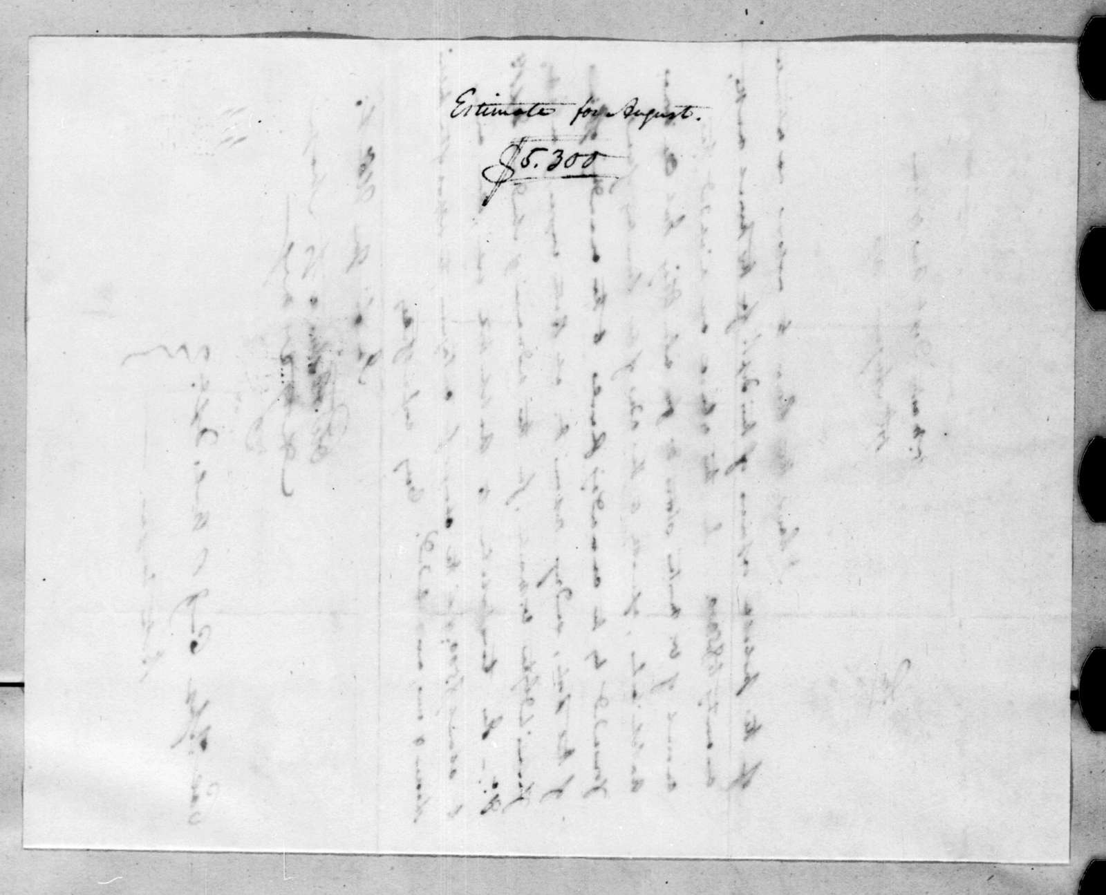 Charles Wollstonecraft to Thomas Sidney Jesup, August 17, 1816