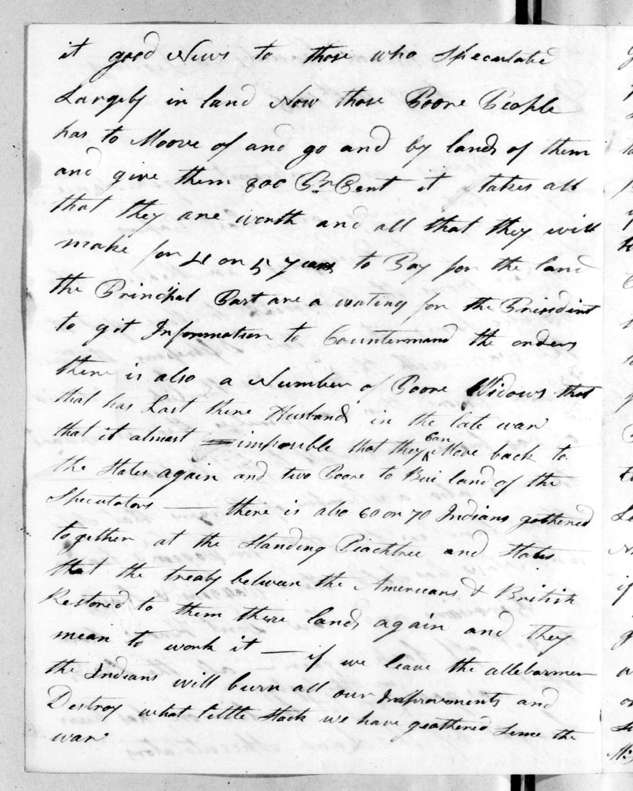 Clabon Harris to Andrew Jackson, January 14, 1816