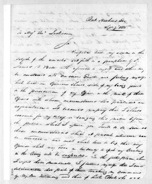 Clinton Wright to Andrew Jackson, September 7, 1816
