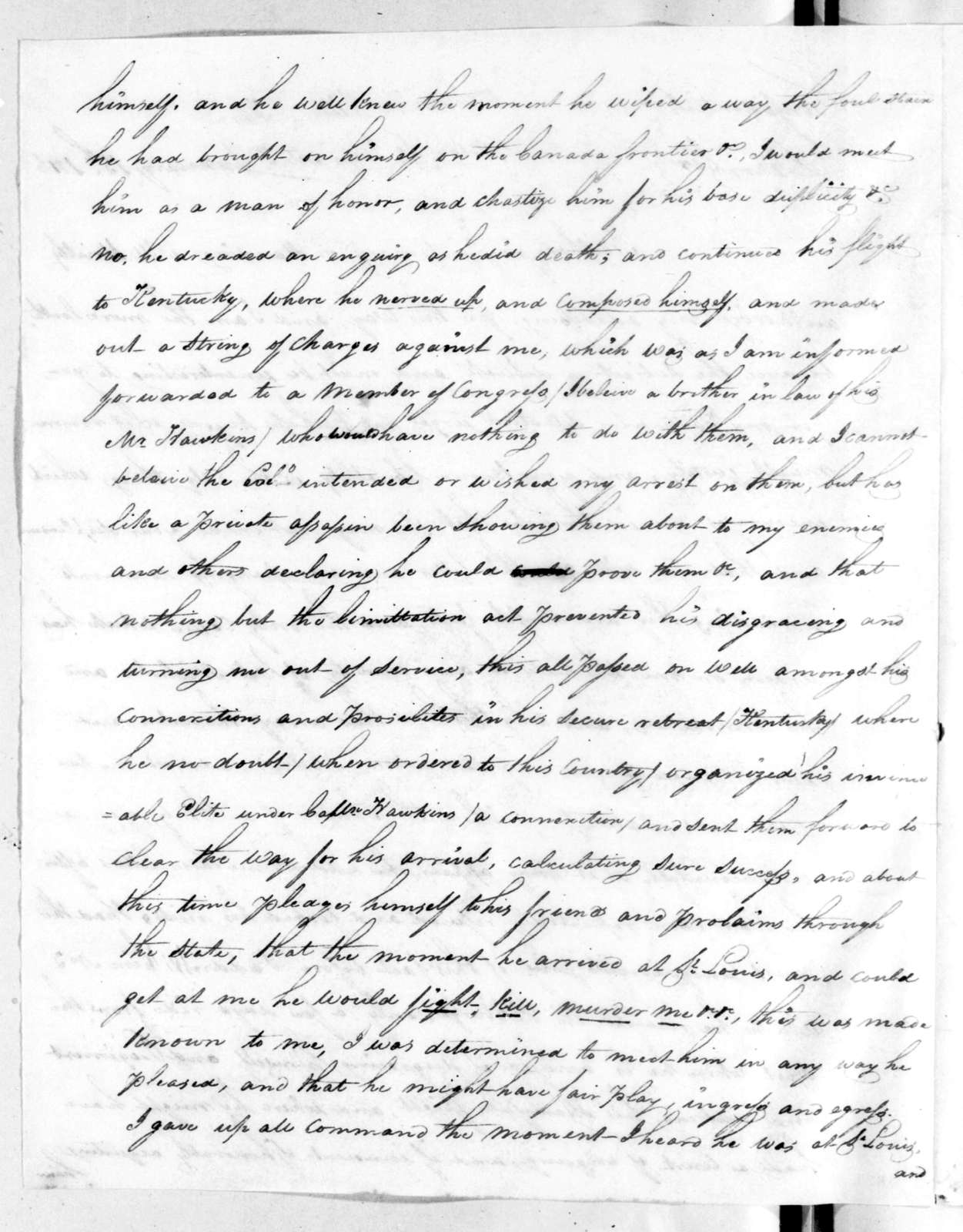 Daniel Bissell to Andrew Jackson, January 15, 1816