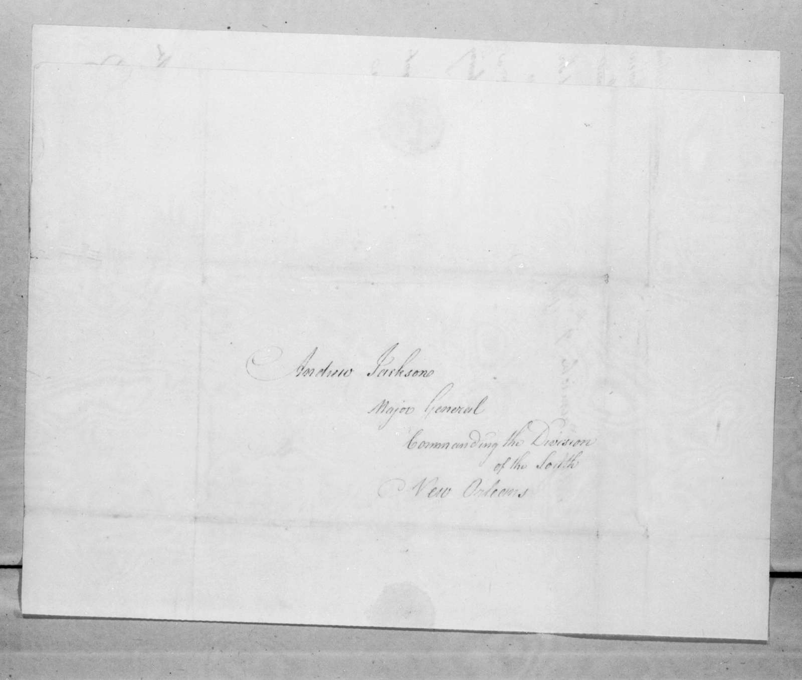 Daniel Carmick to Andrew Jackson, April 7, 1816