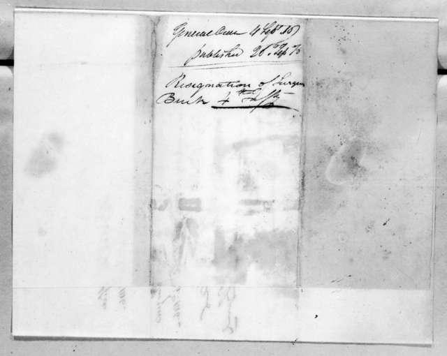 Daniel Parker, September 4, 1816