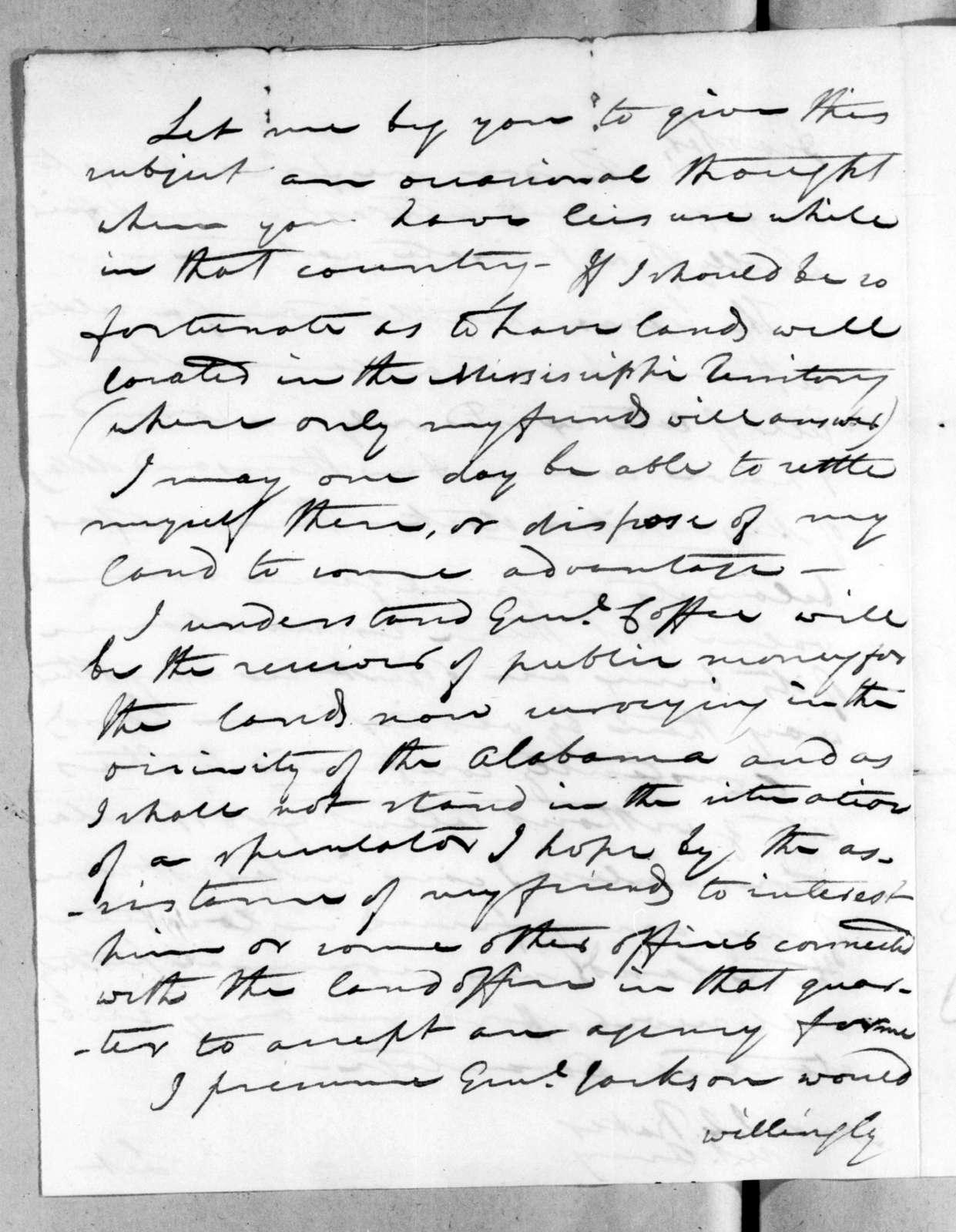 Daniel Parker to Isaac Lewis Baker, August 29, 1816