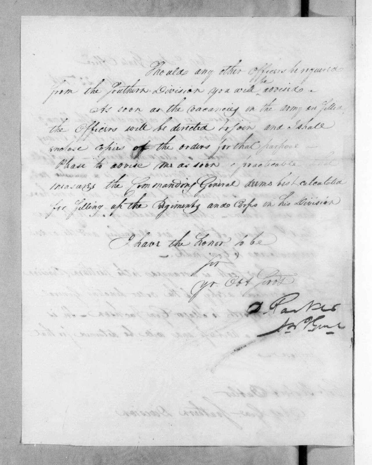 Daniel Parker to Robert Butler, May 22, 1816