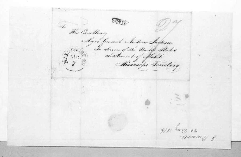 David Burwell to Andrew Jackson, May 20, 1816