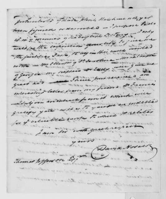 David Hosack to Thomas Jefferson, August 1, 1816