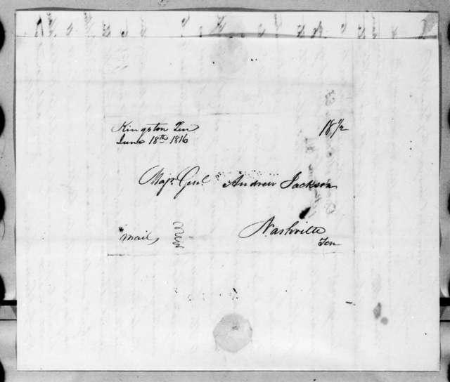 David McClellan to Andrew Jackson, June 17, 1816