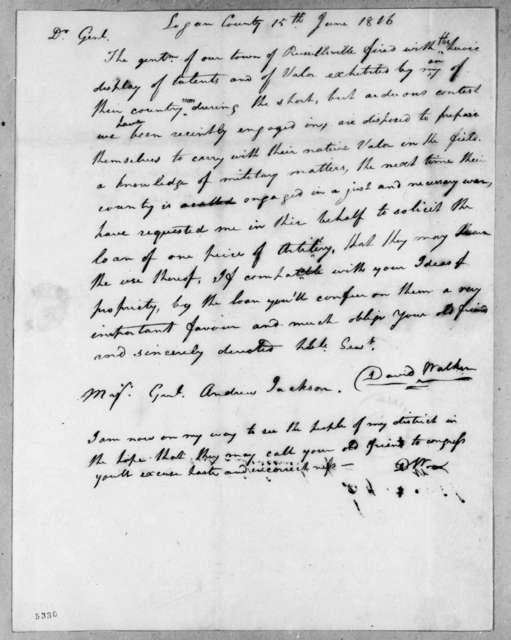 David Walker to Andrew Jackson, June 15, 1816