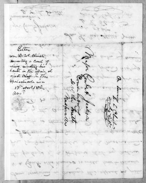 Duncan Lamont Clinch to Andrew Jackson, November 15, 1816