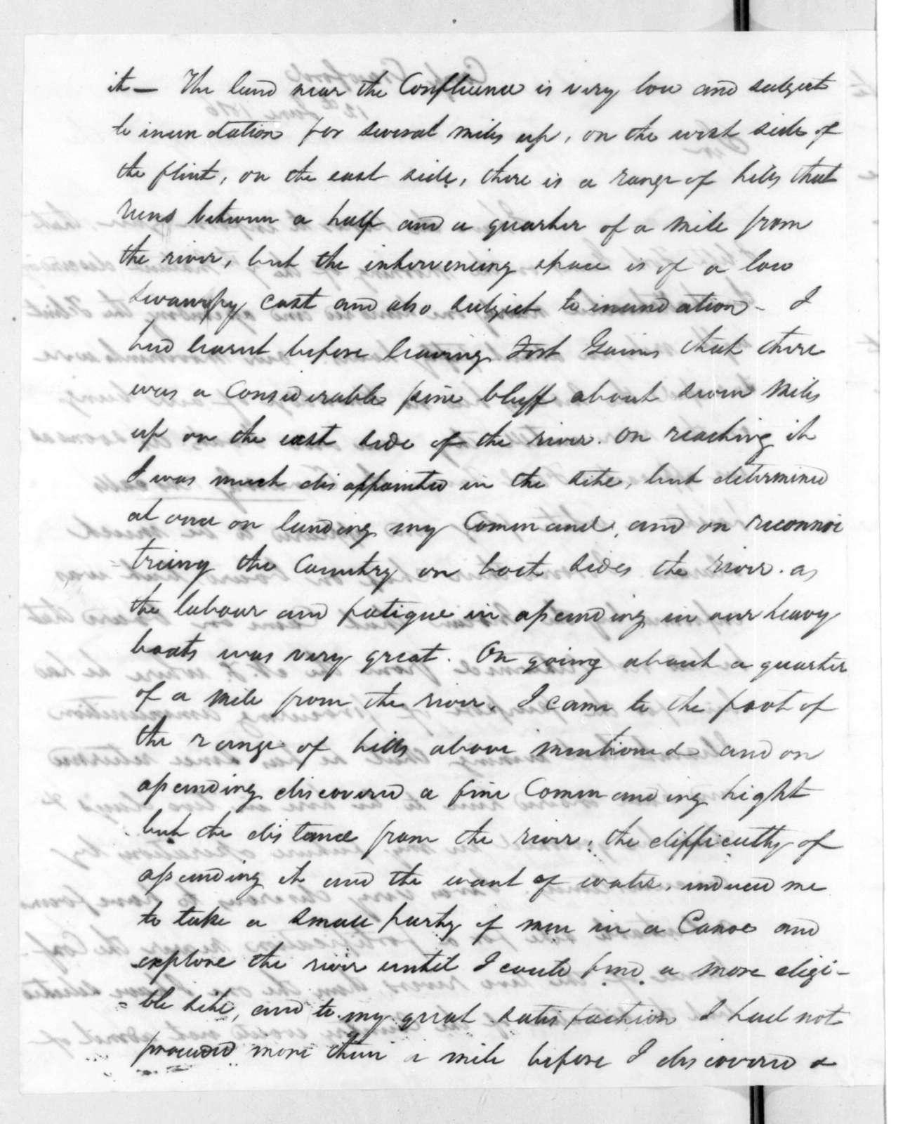 Duncan Lamont Clinch to Edmund Pendleton Gaines, June 12, 1816