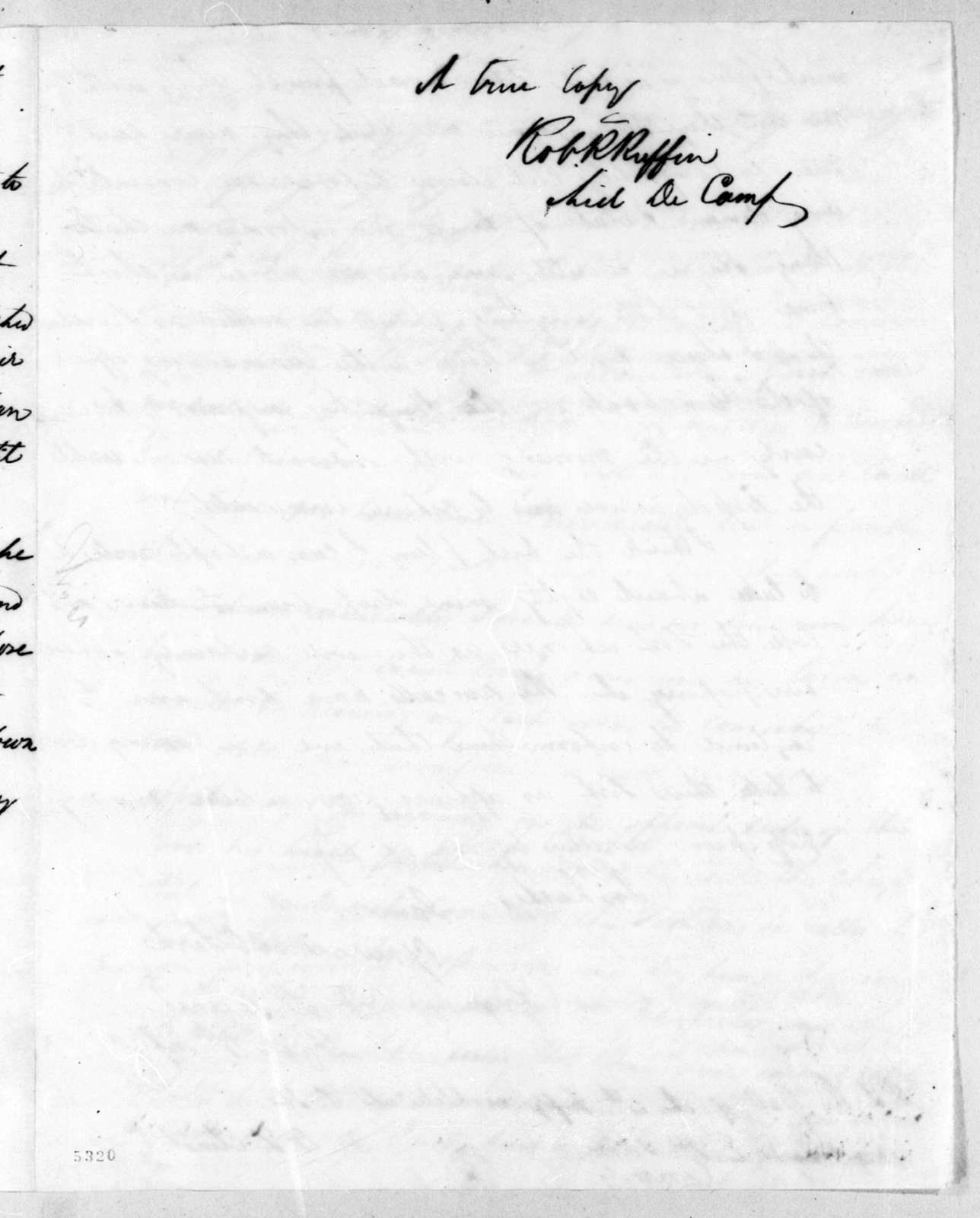 Duncan Lamont Clinch to Edmund Pendleton Gaines, June 14, 1816