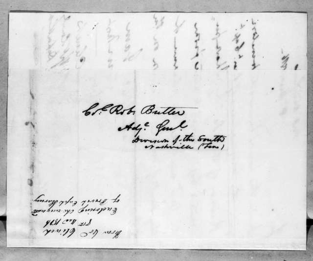 Duncan Lamont Clinch to Robert Butler, December 8, 1816