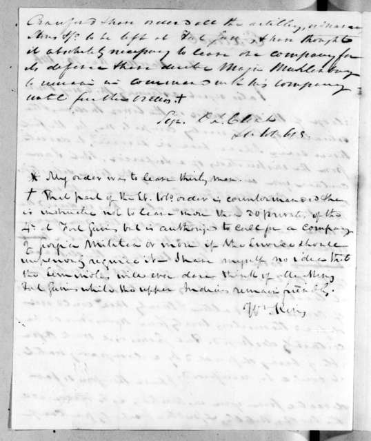 Duncan Lamont Clinch to Unknown, December 20, 1816