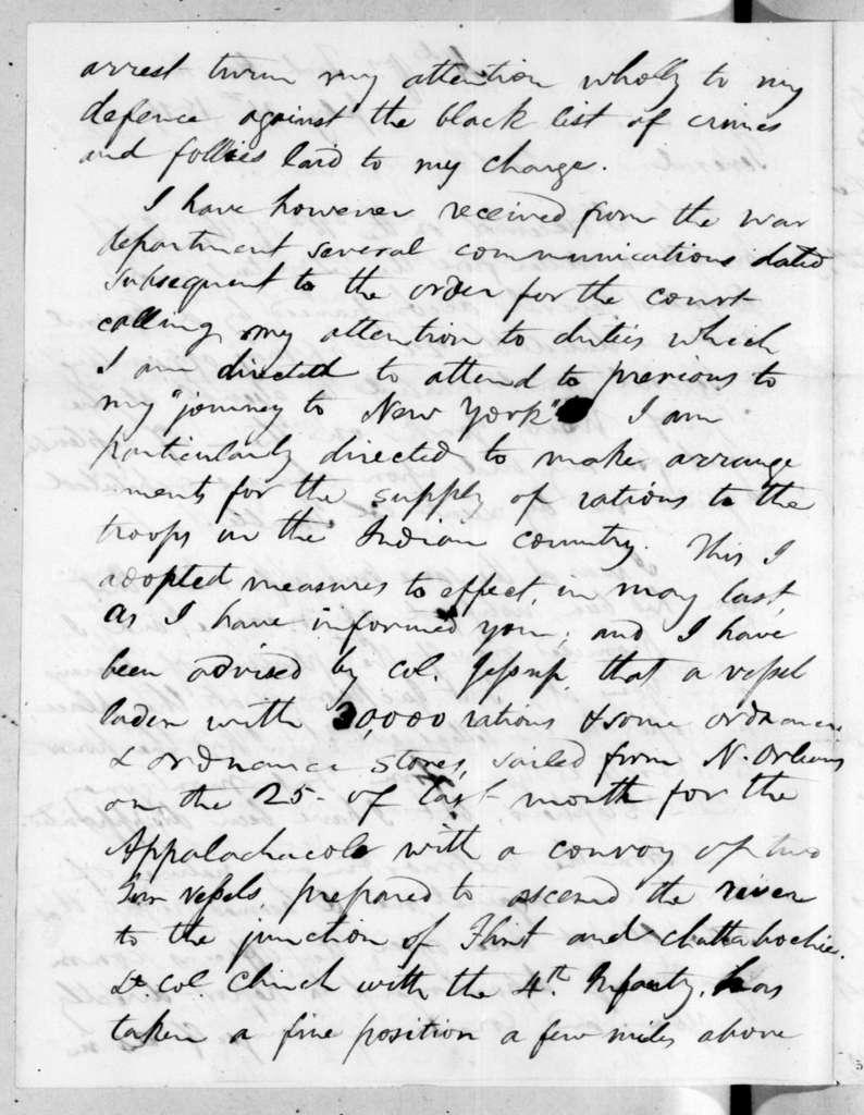 Edmund Pendleton Gaines to Andrew Jackson, July 21, 1816