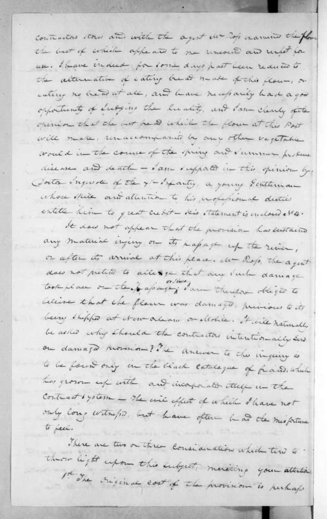 Edmund Pendleton Gaines to Andrew Jackson, March 15, 1816