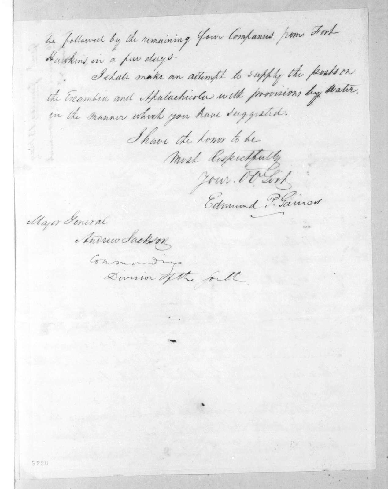 Edmund Pendleton Gaines to Andrew Jackson, May 14, 1816