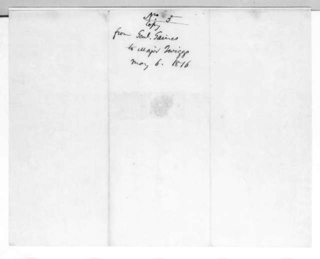 Edmund Pendleton Gaines to David Emanuel Twiggs, May 6, 1816