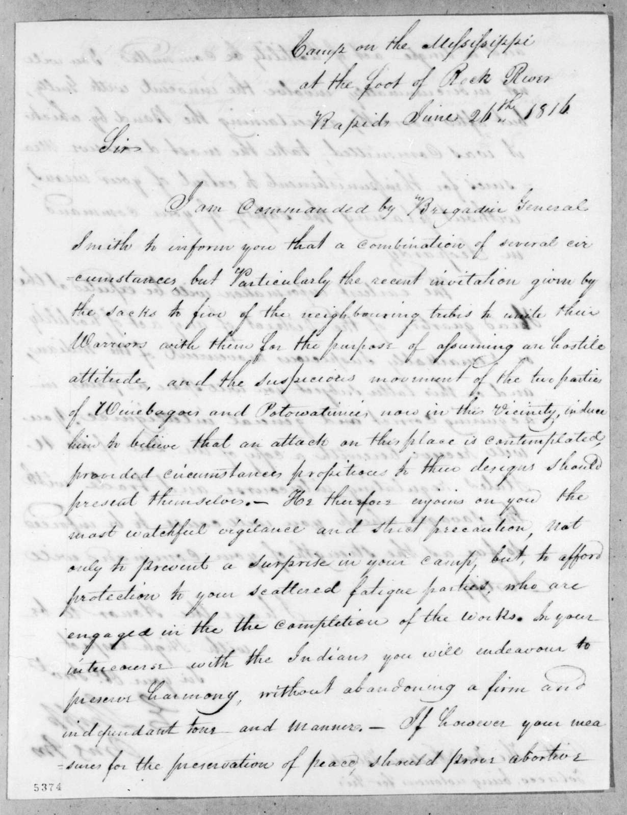 Edmund Shipp to William Lawrence, June 26, 1816