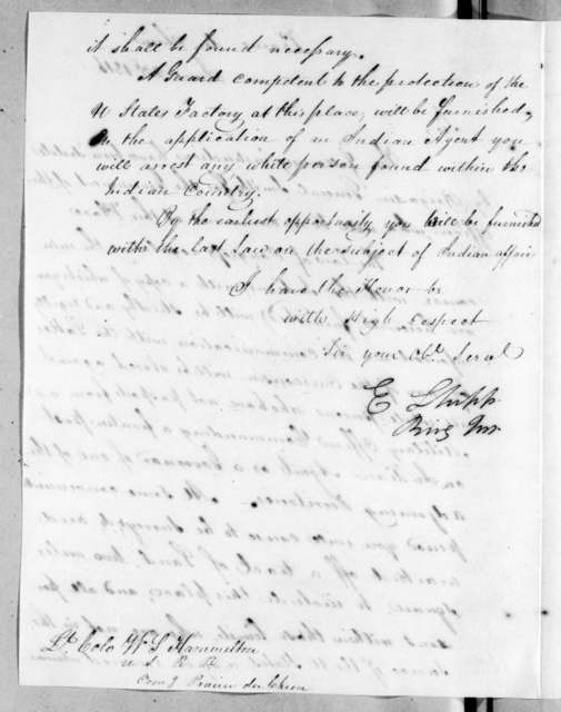 Edmund Shipp to William Southerland Hamilton, June 23, 1816