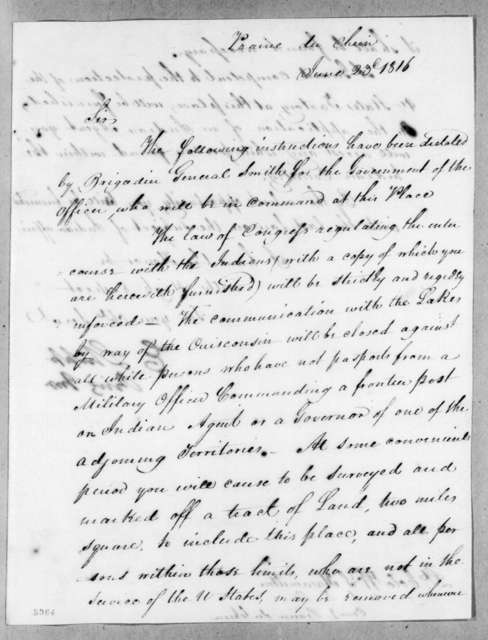 Edmund Shipp to William Southerland Hamilton, June 23, 1816