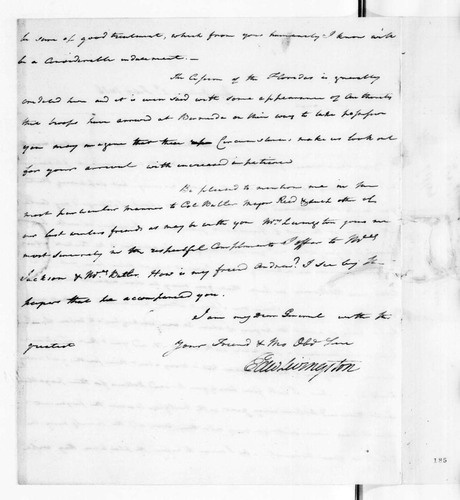Edward Livingston to Andrew Jackson, February 2, 1816