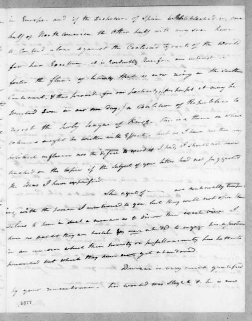 Edward Livingston to Andrew Jackson, November 7, 1816