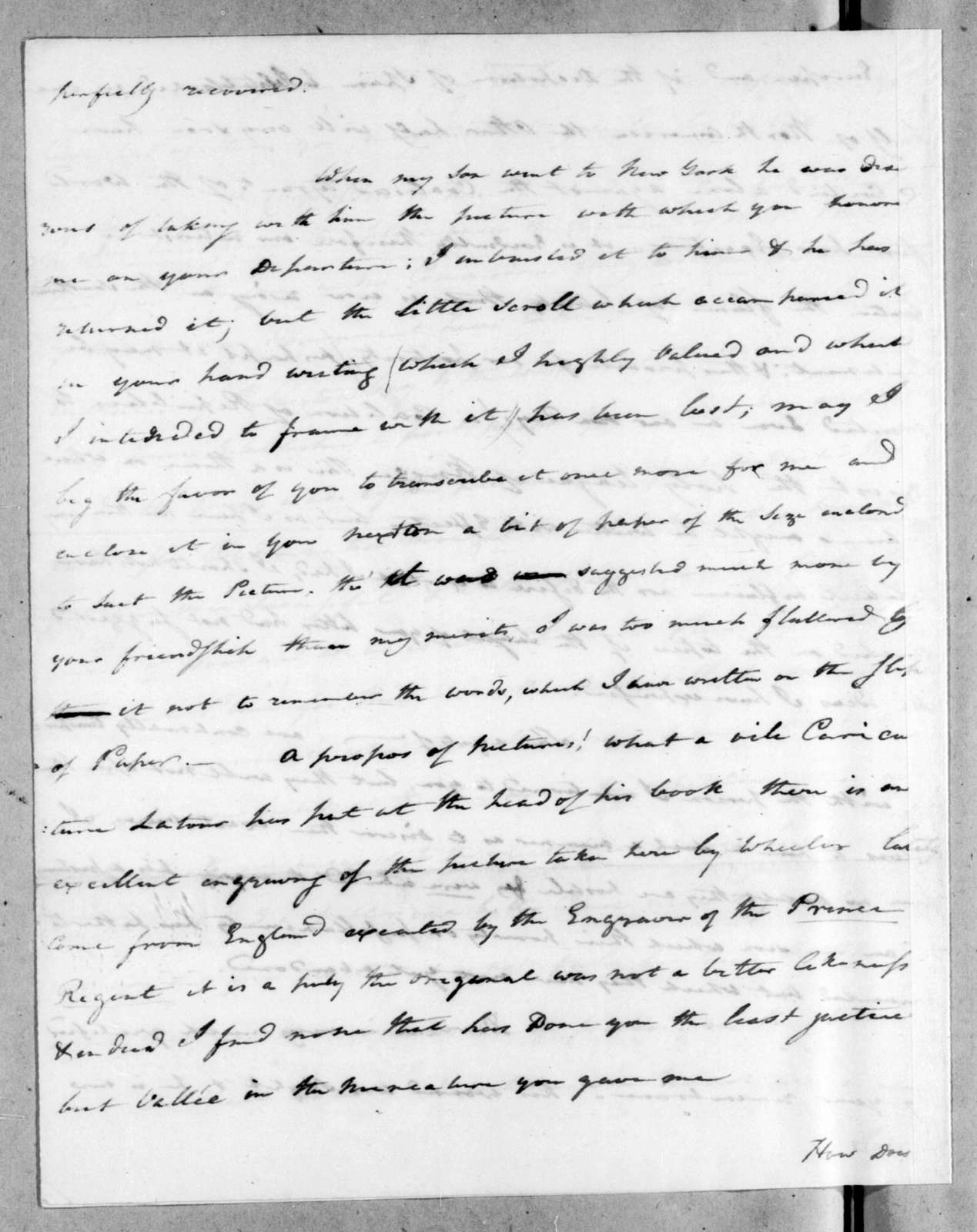 Edward Livingston to Andrew Jackson, November 7, 1816