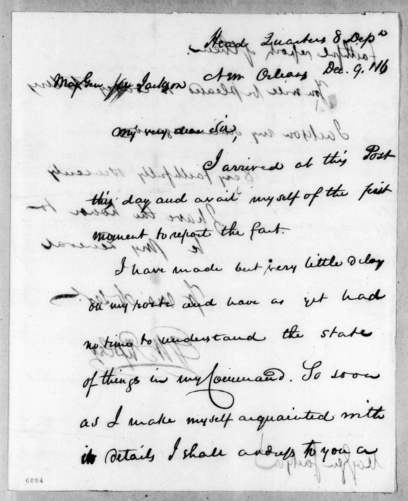 Eleazar Wheelock Ripley to Andrew Jackson, December 9, 1816