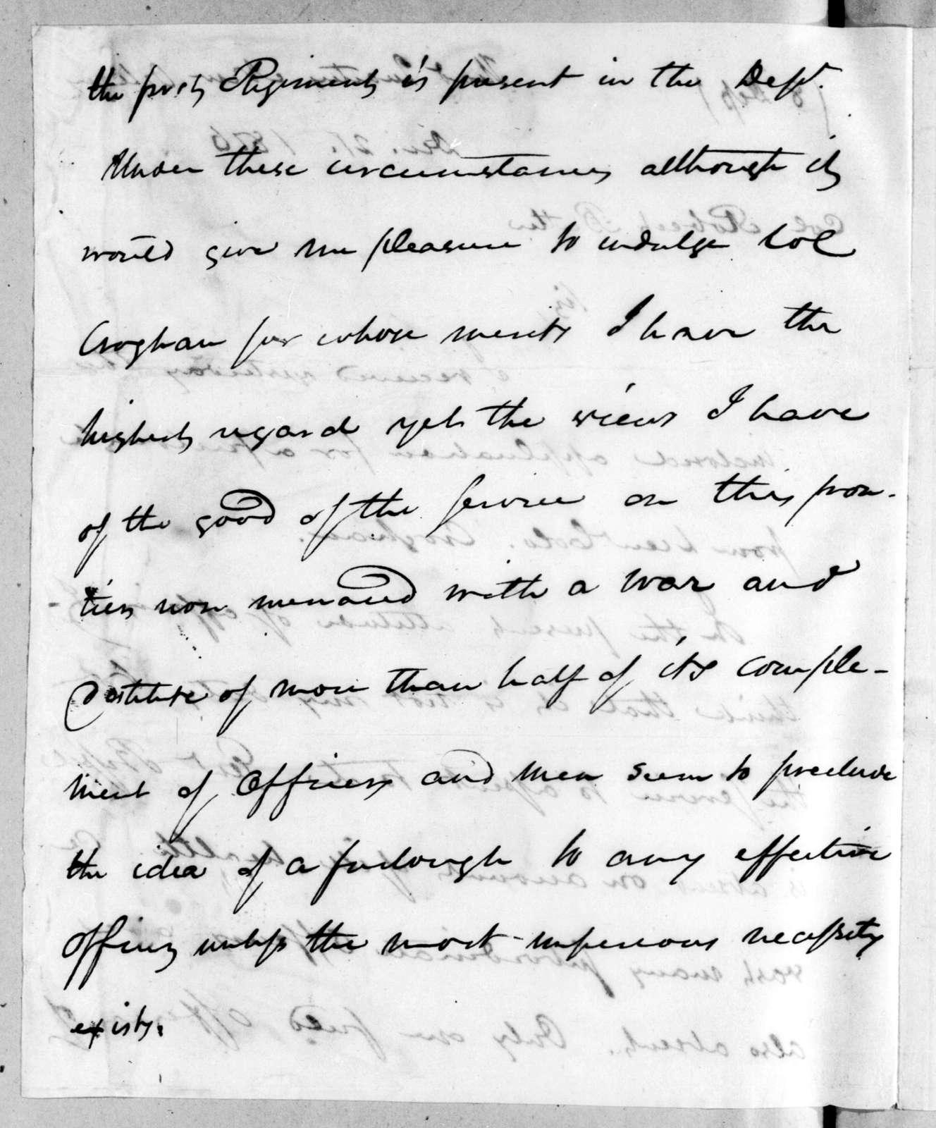 Eleazar Wheelock Ripley to Robert Butler, December 21, 1816