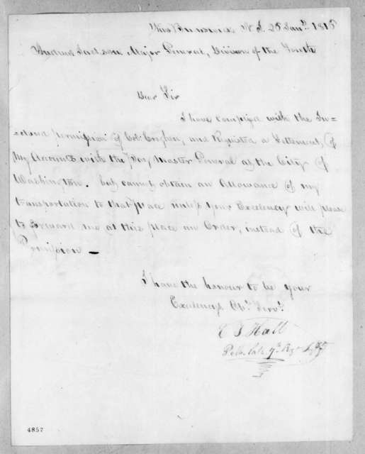 Elisha T. Hall to Andrew Jackson, January 26, 1816