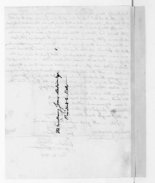 Elisha Tracy to James Madison, December 30, 1816.