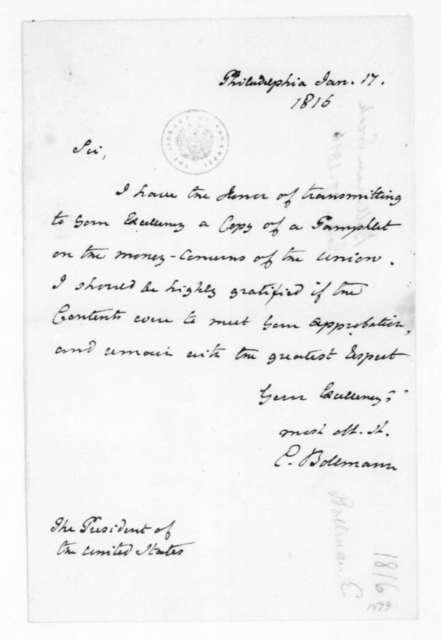 Erick Bollman to James Madison, January 17, 1816.