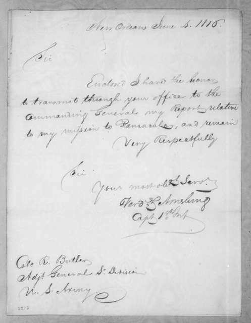 Ferdinand Louis Amelung to Robert Butler, June 4, 1816