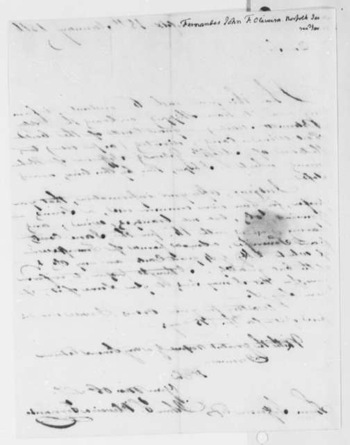 Fernandez Oliviera to Thomas Jefferson, January 18, 1816