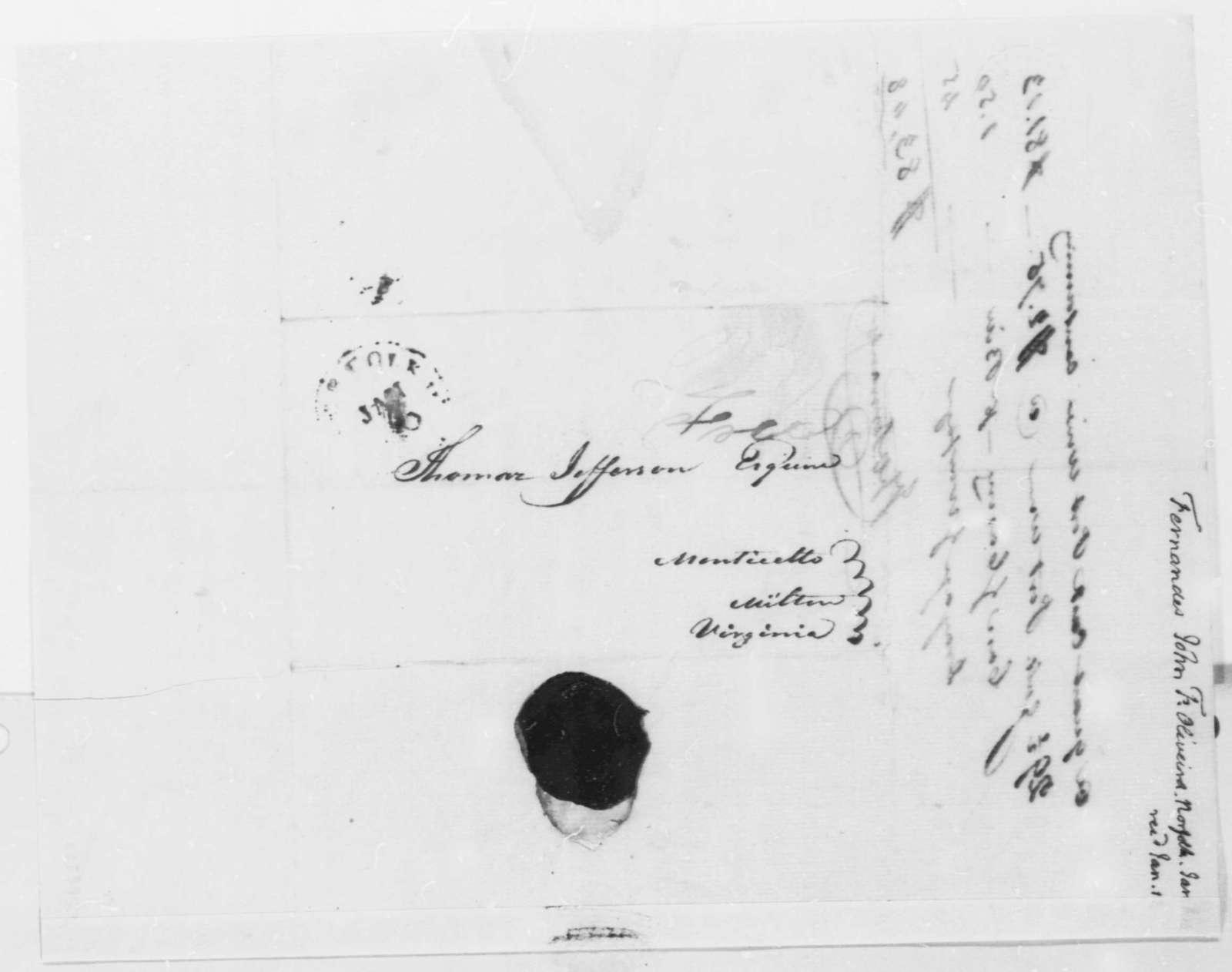 Fernandez Oliviera to Thomas Jefferson, January 6, 1816