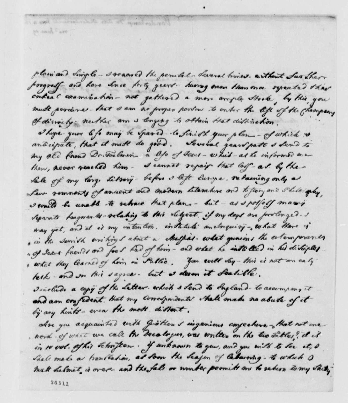 Francis A. van der Kemp to Thomas Jefferson, June 4, 1816