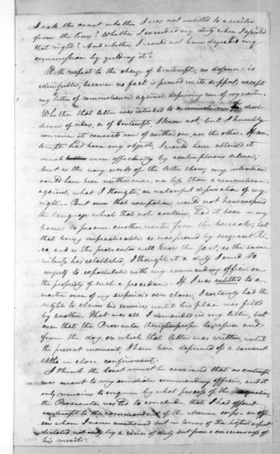 Francis Barbin de Bellevue to James Madison, April 8, 1816