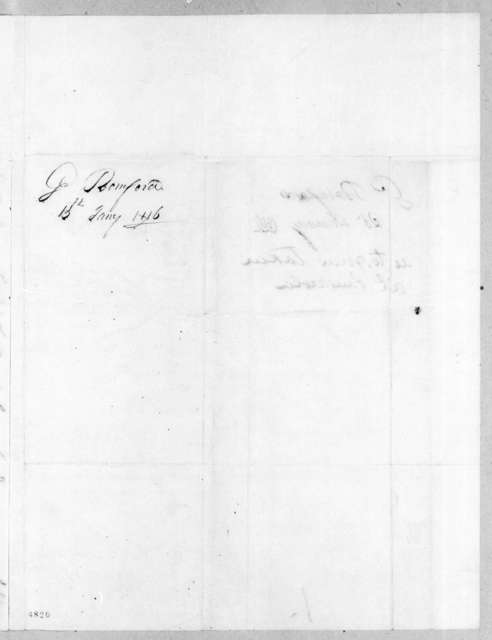 George Bomford to Andrew Jackson, January 15, 1816