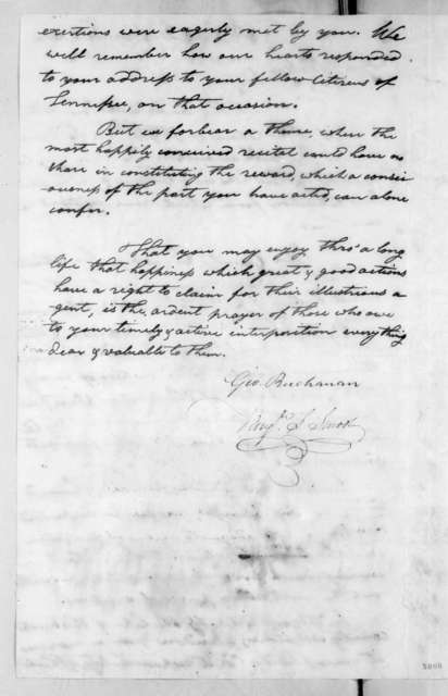 George Buchanan to Andrew Jackson, March 11, 1816