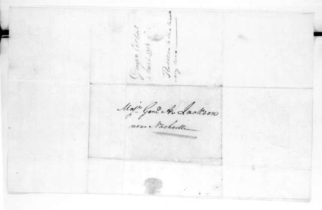 George Colbert to Andrew Jackson, March 1, 1816